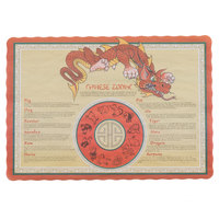 10 inch x 14 inch Chinese Zodiac Paper Placemat with Scalloped Edge - 1000/Case