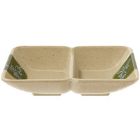 GET 037-TD Japanese Traditional 1 oz. Two Compartment Sauce Dish 4 inch x 3 inch 24 / Case
