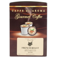 Caffe de Aroma French Roast Coffee Single Serve Cups   - 24/Box