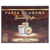 Caffe de Aroma Decaf French Vanilla Coffee Single Serve Cups - 12/Box
