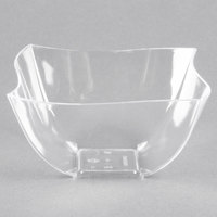 Fineline Wavetrends / Tiny Temptations 180-CL 8 oz. Clear Plastic Bowl - 4/Pack