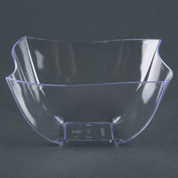 Fineline Wavetrends / Tiny Temptations 180-CL 8 oz. Clear Plastic Bowl - 4 / Pack