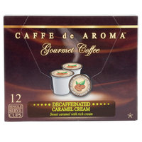 Caffe de Aroma Decaf Caramel Cream Coffee Single Serve Cups - 12/Box