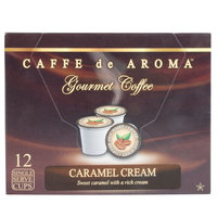 Caffe de Aroma Caramel Cream Coffee Single Serve Cups   - 12/Box