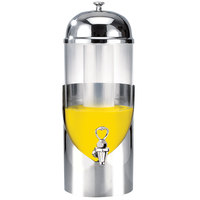 Eastern Tabletop 7803 Modern 3 Gallon Stainless Steel Round Beverage Dispenser with Acrylic Container