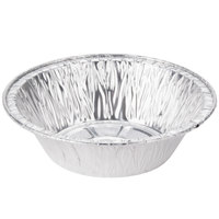 Baker's Mark 5 3/4 inch x 1 1/2 inch Deep Foil Pot Pie Pan - 100 / Pack