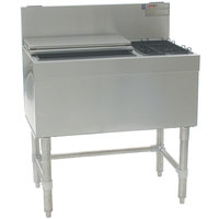 Eagle Group BCT48L-19 Spec-Bar 19 inch x 48 inch Combination Ice Chest with Left Hand Bottle Rack