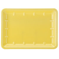 Genpak 1014 Yellow 10 inch x 13 7/8 inch x 1 1/4 inch Foam Supermarket Tray - 100 / Case