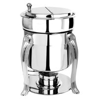 Eastern Tabletop 3107QA-SS Queen Anne 7 Qt. Stainless Steel Sauce / Soup Marmite with Hinged Lid