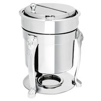 Eastern Tabletop 3107LH-SS Lion Head 7 Qt. Stainless Steel Sauce / Soup Marmite with Lift-Off Lid
