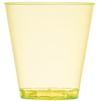 Fineline Quenchers 402-Y 2 oz. Neon Yellow Hard Plastic Shot Cup 2500 / Case