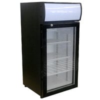 Beverage-Air CTF3-1-B-LED Black Countertop Display Freezer with Swing Door - 3 cu. ft.