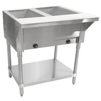 Advance Tabco HF-2G Two Pan Gas Powered Hot Food Table - Open Well