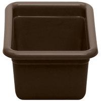 Cambro 912CBP131 12 inch x 9 inch x 5 inch Dark Brown Polyethylene Plastic Utility Box