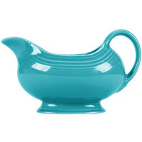 Homer Laughlin 486107 Fiesta Turquoise 18.5 oz. Sauce Boat - 4/Case