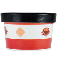 Choice 8 oz. Double-Wall Poly Paper Soup / Hot Food Cup with Vented Paper Lid - 25 / Pack