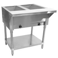 Advance Tabco SW-2E Two Pan Electric Hot Food Table with Undershelf - Sealed Well