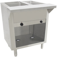 Advance Tabco HF-2E-BS Two Pan Electric Hot Food Table with Enclosed Base - Open Well, 120V