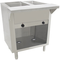 Advance Tabco SW-2E-BS Two Pan Electric Hot Food Table with Enclosed Base - Sealed Well, 120V