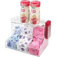 Cal-Mil 786 Acrylic Top-Loading 3 Bin Coffee Condiment Organizer - 12 inch x 8 inch x 9 1/4 inch