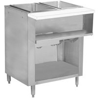Advance Tabco WB-2G-BS Two Pan Wetbath Gas Powered Hot Food Table with Enclosed Undershelf - Sealed Well