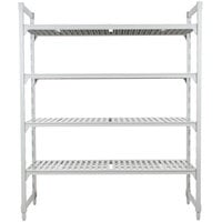 Cambro Camshelving Premium CPU184272V4480 Shelving Unit with 4 Vented Shelves 18 inch x 42 inch x 72 inch