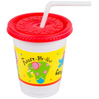 Dart Solo CC12C-J5146 12 - 14 oz. Critter Print Plastic Kids Cup with Lid and Straw - 250 / Case