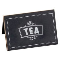 Cal-Mil 3047-4 3 inch x 2 inch Chalkboard Beverage Sign with Tea Print