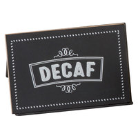 Cal-Mil 3047-2 3 inch x 2 inch Chalkboard Beverage Sign with Decaf Print