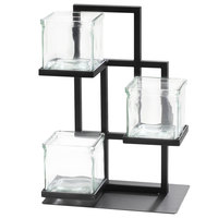 Cal-Mil 3350-13 Union Square 3-Tier Condiment Caddy - 7 inch x 10 inch x 14 inch