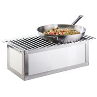 Cal-Mil 3391-55 Urban Stainless Steel Chafer Alternative - 22 inch x 7 1/2 inch x 9 1/2 inch