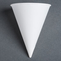 Dart Solo 4R-2050 Bare Eco-Forward 4 oz. White Rolled Rim Paper Cone Cup with Chipboard Box Packaging - 200 / Pack