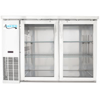 Avantco UBB-24-48GS 48 inch Narrow Glass Door Stainless Steel Back Bar Cooler with LED Lighting