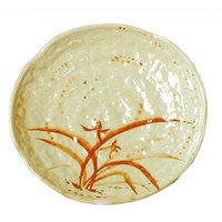 Gold Orchid 14 inch Lotus Shaped Melamine Plate - 12/Pack