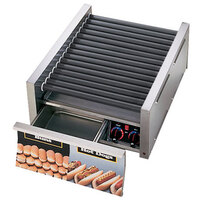 Star Grill-Max Pro 45STBD 45 Hot Dog Roller Grill with Bun Drawer, Analog Controls, and StalTek Non-Stick Rollers