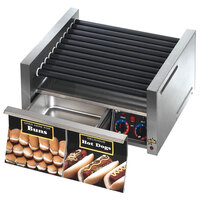 Star Grill-Max Pro 30STBD 30 Hot Dog Roller Grill with Bun Drawer, Analog Controls, and StalTek Non-Stick Rollers
