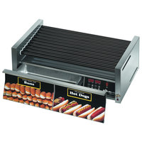 Star Grill-Max Pro 50STBDE 50 Hot Dog Roller Grill with Bun Drawer, Electronic Controls, and StalTek Non-Stick Rollers