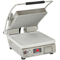 Star PGT14E Pro-Max® 2.0 Single 14 inch Panini Grill with Grooved Aluminum Plates - Electronic Timer