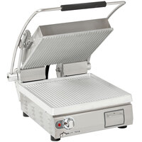 Star PGT14 Pro-Max® 2.0 Single 14 inch Panini Grill with Grooved Aluminum Plates - Dial Controls