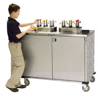Lakeside 70200 Stainless Steel EZ Serve 8 Pump Condiment Cart with Gray Sand Finish - 27 1/2 inch x 50 1/4 inch x 47 inch