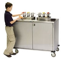 Lakeside 70200 Stainless Steel EZ Serve 8 Pump Condiment Cart - 27 1/2 inch x 50 1/4 inch x 47 inch