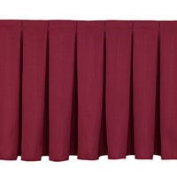 National Public Seating SB8-48 Burgundy Box Stage Skirt for 8 inch Stage - 36 inch Long