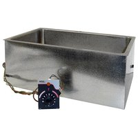 APW Wyott BM-80D Bottom Mount 12 inch x 20 inch Insulated Hot Food Well with Drain and Square Corners - 120V, 750W