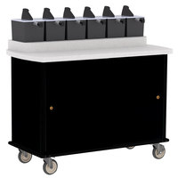 Lakeside 70420 Black Condi-Express 6 Pump Condiment Cart