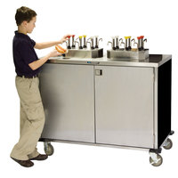 Lakeside 70220 Stainless Steel EZ Serve 4 Pump Condiment Cart with Black Finish - 27 1/2 inch x 33 inch x 47 inch