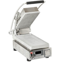 Star PGT7 Pro-Max® 2.0 Single 9 1/2 inch Panini Grill with Grooved Aluminum Plates - Dial Controls