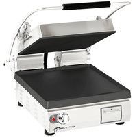 Star PST14I Pro-Max® 2.0 Single 14 inch Panini Grill with Smooth Cast Iron Plates - No Timer