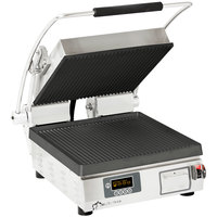 Star PGT14IE Pro-Max® 2.0 Single 14 inch Panini Grill with Grooved Cast Iron Plates - Electronic Timer