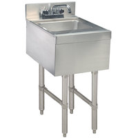Advance Tabco CR-HS-15 Stainless Steel Underbar Hand Sink with Deck Mount Faucet - 15 inch x 21 inch