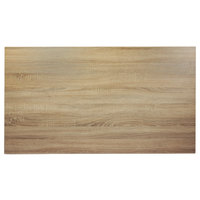 BFM Seating SO3060 Midtown 30 inch x 60 inch Rectangular Indoor Tabletop - Sawmill Oak Finish